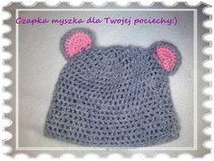 ▶ czapka myszka na szydełku /mouse hat crochet - YouTube