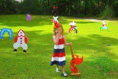 Alice In Wonderland Croquet Do It Yourself Set. Alice In Wonderland Croquet, Croquet Party, Childrens Party Games, Cool Kids, Etsy, Door Games, Mad, Reception, Parties