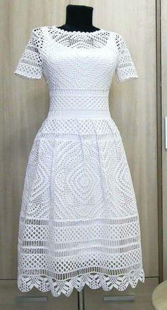 Vestido Branco Croche