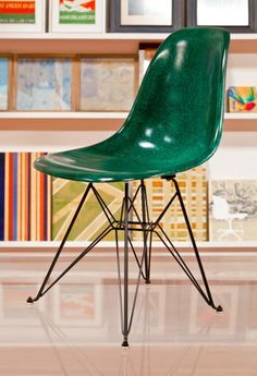 Forest Side Shell<br>with Eiffel Base - Modernica, Inc. Perfect green, sigh...