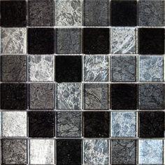 ROCCIA supply this tile www.roccia.com Black mosaic tile. Art Mosaic Company Galaxy | Roccia