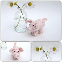 Crochet pig by helenahaakt.blogspot.com (Varken haken)