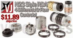 Vapor Joes - Daily Vaping Deals: AIRFLOW: THE N23 STYLE RDA - $11.89