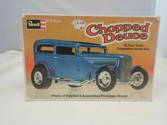 1932 FORD TUDOR CHOPPED DEUCE REVELL 1:25 SCALE VINTAGE PLASTIC MODEL KIT #1335 #Revell