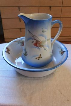 English Antique pitcher and basin:)