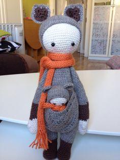 KIRA then kangaroo made by Delphine / crochet pattern by lalylala