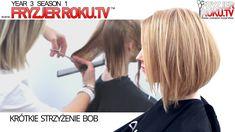 Krótkie strzyżenie bob   Short Hair Cut Technique FryzjerRoku.tv