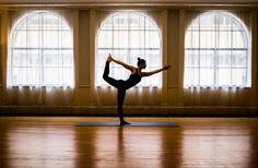 Pose in the Yoga Studio