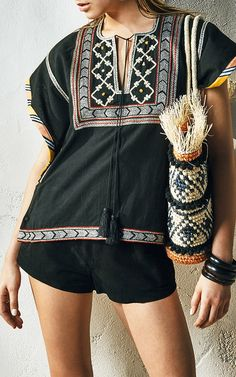 African Tribal Box Top by TALITHA for Preorder on Moda Operandi