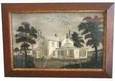 Sandpaper Painting of a Homestead - Sheridan Loyd Antiques