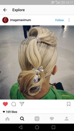Perfectly styled hair is an important part of the overall look for ballroom dance competitors. Latin Hairstyles, Work Hairstyles, Dance Competition Hair, Ballroom Dance Hair, Wig Styles, Hair Art, Hair Today, Hair Designs, Bridal Hair