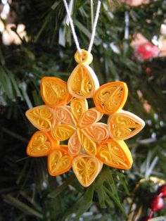 Paper Quilling Christmas Ornaments Set of 3. $3.00, via Etsy.