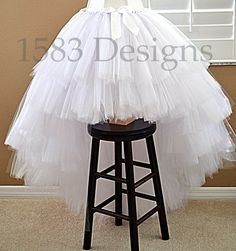 ULTRA FULL High/Low Custom Made Tutu Skirt - Layered Tiers - For ADULTS and Big Kids - Any Colors - Wedding Gown Dress Bride Flower Girl by 1583Designs bridal tulle any colors stylized photo shoot prop fashion layers
