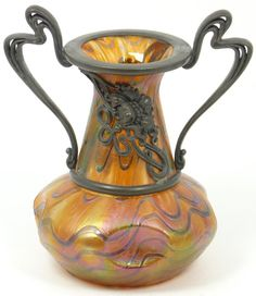 Loetz iridescent vase.