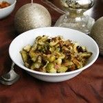 Stress-Free+Thanksgiving:+Roasted+Brussels+Sprouts+with+Onions,+Bacon+and+Cranberries