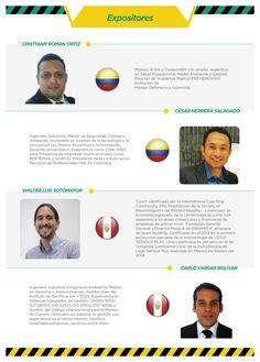 Expositores del Congreso de Innovación de Seguridad y Salud en el Trabajo