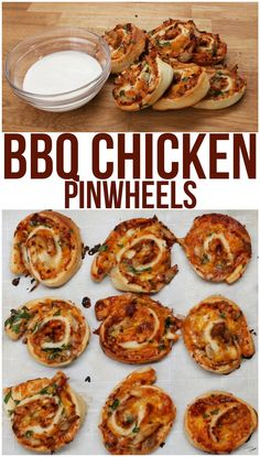 These BBQ Pinwheels Are What Food Dreams Are Made Of Yields: 14 rollups 1 refrigerated pizza crust ½ cup BBQ sauce 1 ½ cups shredded rotisserie chicken ½ red onion, finely chopped 1 cup shredded cheese ¼ cup parsley, chopped Yummy Recipes, Appetizer Recipes, Cooking Recipes, Yummy Food, Appetizers, Rib Recipes, Recipies, Chicken Roll Ups, Bbq Chicken Sides