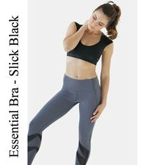 Essential Bra, Slick Black IntelliSkin Women's Compression Bra #medical #medicalsupplies #pro2medical #health #healthcare #lifestyle #Lubbock  #posture #body #hose
