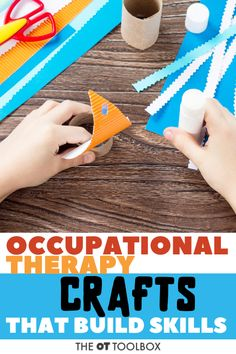 Looking for kids crafts that build skills? These occupational therapy craft ideas use items found in the home and recycled materials. Recycled Crafts Kids, Animal Crafts For Kids, Summer Crafts For Kids, Projects For Kids, Kids Crafts, Occupational Therapy Activities, Physical Activities, Autism Activities, Motor Activities