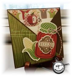 criss-cross pocket card...adorable for a recipe tucked inside