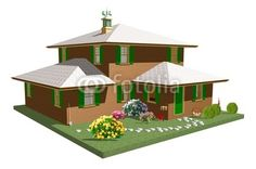 #Country #Home With #Garden-#3d #Architecture © #Bluedarkat - on #Fotolia!