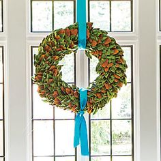 Make Your Own Magnolia Christmas Wreath
