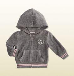 hooded zip-up sweatshirt.