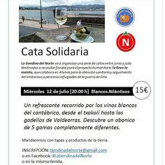 Este miércoles 12 de julio cerramos el ciclo de catas solidarias destinadas a colaborar con el proyecto humanitario Te llevo la maleta con una cata de vinos blancos. Y todavía quedan plazas!! Para reservar, correos a tiendinadelnorte@gmail.com. Seguro que descubrirás algún vino y pasarás un rato agradable mientras aportas tu granito de arena �� #cata #vinosblancos #solidaridad #ponzaning #latiendinadelnorte #wines #winelovers�� #txakoli #godello #albariño #ribeiro…