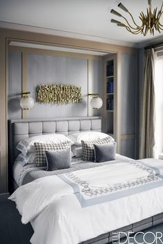 51 Cozy Grey Bedroom Designs With Upholstered Tufted Headboard T Small