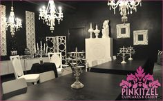 Black & White Party Room - inspiration