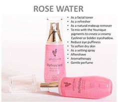 Younique's Refreshed Rose Water protects your skin from inflammation and reduces redness. It's an amazing astringent and facial toner that will fight signs of aging by minimizing your pores and tightening wrinkles! The aroma of roses will also help rid feelings of anxiety, allowing you to de-stress and relax!