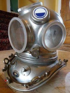 Yokohama Diving Helmet From Japan Scuba Diving Gear, Diving Suit, Helmets For Sale, Vintage Helmet, Diving Helmet, Under The Sea Theme, Diving Equipment, Yokohama, Steampunk