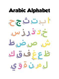 Image of Arabic Alphabet Alphabet Letter Templates, Arabic Alphabet Letters, Arabic Alphabet For Kids, Abc Alphabet, Animal Alphabet, Arabic Font, Arabic Calligraphy Art, Islamic Baby Names, Music Activities For Kids