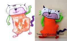 this is the coolest thing ever! a company that makes toys from the kids' drawings :)