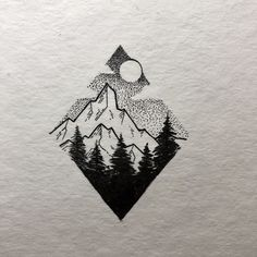 little geometric Mountain what is you favorite mountain or areas you love to go? I don't have one in general more like areas like Alpstein or Engadin. Have a great Week! Pencil Art Drawings, Art Drawings Sketches, Tattoo Drawings, Sketch Drawing, Cute Tattoos, Small Tattoos, Tatoos, Montain Tattoo, Stylo Art