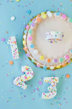 DIY Confetti Marshmallow Numbers, via Studio DIY