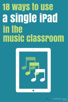 18 Ways To Use A Single iPad In The Music Classroom Even if you have only one iPad (your own!) there are still lots of ways you can use it with your students, especially if you can plug it into a data projector and speakers. Here are 18 ideas: 1. Practice note names Use an app