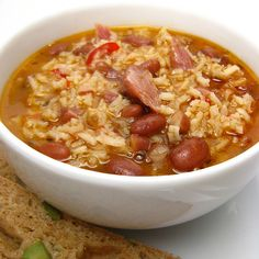 Red Beans and Rice Soup looks so yummy! Think I'll make some cornbread to go with it.....