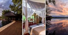 Enjoy lazy days by the pool while gazing at the wildlife at Khaya Ndlovu Manor House in Limpopo #limpopo #wildlife #sunset #getaway