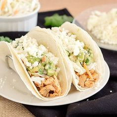"""Try these delish tacos made with salmon and an avocado """"salsa"""""""