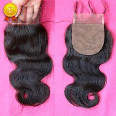 DHL Free Shipping 7A Best Brazilian Human Virgin Hair Silk Base Closure Cheap Peruvian Silk Closure Body Wave Top Lace Closures