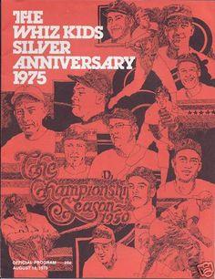 Philadelphia Phillies 1950 Whiz Kids 25th Anniversary baseball program from 1975