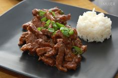 Carne agridulce tipo asiática