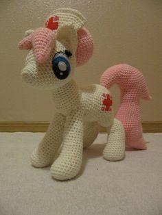 Nurse Redheart Pattern My Little Pony by NerdyKnitterDesigns