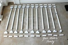{Solution} DIY gate for bottom of wide staircase (when the staircase it too wide for a normal store-bought gate) Diy Dog Gate, Diy Baby Gate, Baby Gates, Dog Gates, Pvc Gate, Stair Gate, Pvc Pipe Crafts, Pvc Pipe Projects, Pipe Fence