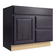 Kraftmaid Momentum Dusk Settler 1-Door 2-Drawer Right Base Cabinet (Co