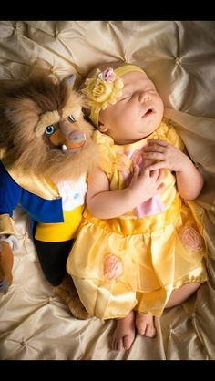 Beauty and the Beast baby. Taught from infancy the true meaning of being beautiful. :) if i have a girl im totally doing this