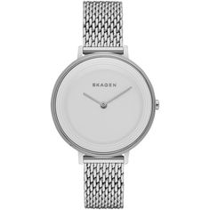 Skagen SKW2332 Women's Ditte Watch , Silver ($240) ❤ liked on Polyvore featuring jewelry, watches, silver, pandora bracelet, bracelet watches, mens wrist watch, water resistant watches and skagen watches