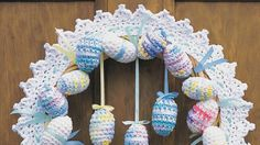 Crochet Easter Wreath Pattern