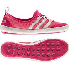 best website afa29 2d208 Adidas Womens Climacool Boat Sleek Water Shoes - Bahia Pink Chalk Vivid  Berry 12